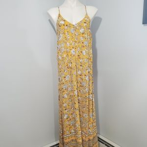 Old Navy Floral Criss Cross Strap Maxi Dress M NWT